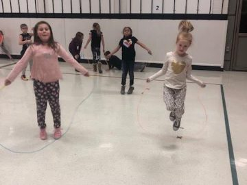 Elementary students participate in Kids Heart Challenge, Jump Rope for Heart
