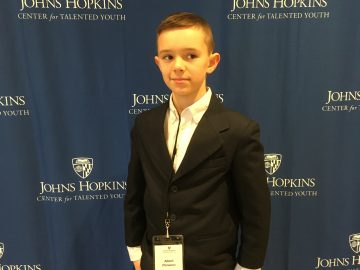 Top student recognized by Johns Hopkins CTY